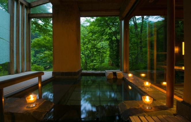 全室源泉掛け流しの露天風呂