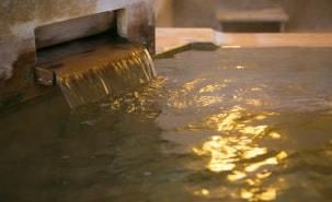 豊富な湯量と20種類以上の効能をもつ滋養溢れる温泉